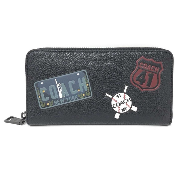 Coach Other - Coach F24657 Men's Accordion Wallet With Motif